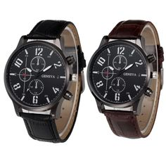 Watches Modest Relogio Masculino Hot Mens Analog Steel Case Quartz Dial Synthetic Leather Wrist Sport Watch Gift Drop Shipping In Many Styles