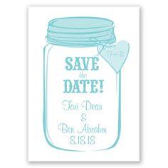 Mason Jar Save the Date - in Pool #SaveTheDate #SummerWedding #MasonJar http://www.invitationsbydavidsbridal.com/Wedding-Invitations/Save-the-Dates/2947-DB4NMJSD-Mason-Jar--Pool--Save-the-Date.pro?&sSource=Pinterest&kw=SummerBreeze_DB4NMJSD #DavidsBridal