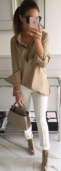 nude accents   street style #WomenFashion