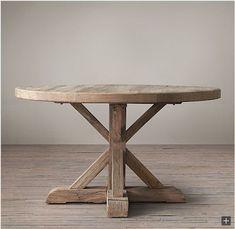 Restoration Hardware Look-Alikes: Save 245.00 @ Williams-Sonoma vs Restoration Hardware Distressed Elm Belgian Trestle Round Dining Table