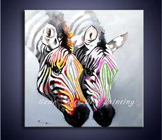 Pin by kool bandit on stripes pinterest african paintings handbeschilderde canvas kunst aan de muur in een kleurrijke zebra dier schilderij moderne kunst home in thecheapjerseys Gallery