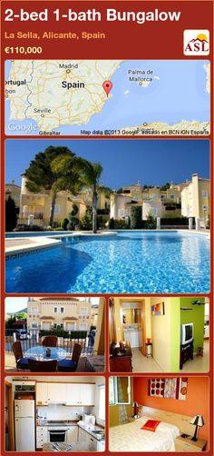 2-bed 1-bath Bungalow in La Sella, Alicante, Spain ►€110,000 #PropertyForSaleInSpain
