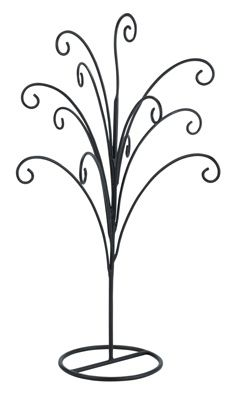 Metal Ornament Tree Hanger - Black