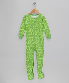 Another great find on #zulily! Green Turtle Footie - Infant & Toddler by Leveret #zulilyfinds