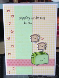 """Made with Lawn Fawn """"Love 'n' Breakfast"""" stamp set"""