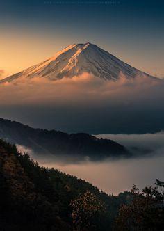 "tokyogaruzu:  ""     In The Mist by Kwanchai_K on Flickr  Mt. Fuji, Japan 富士山               """
