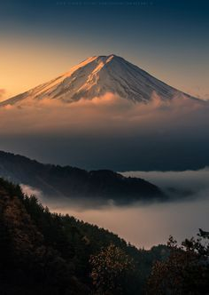 "tokyogaruzu:  ""     In The Mist by Kwanchai_K on Flickr  Mt. Fuji, Japan 富士山               """