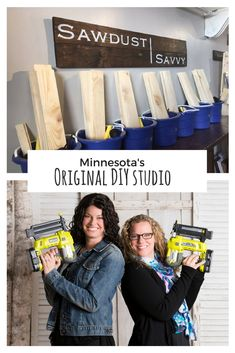 Crafting since We LOVE to share our passion for DIY. With over 100 designs to choose from you shouldn't have trouble finding your favorite. Plan a day trip to Stillwater and see what Sawdust Savvy has to offer. We can't wait to meet you! Joanna Gaines, Fitness And Beauty Tips, Mother Daughter Dates, Make Your Own Sign, Fun Group, Diy Workshop, Diy Décoration, Diy On A Budget, Girls Night Out