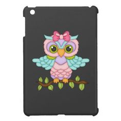 Cartoon Owl iPad mini case
