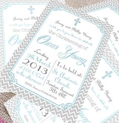Christening invitations for boys