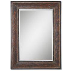 Distressed Aged Black Mandas Mirror Uttermost Rectangle Mirrors Home Decor