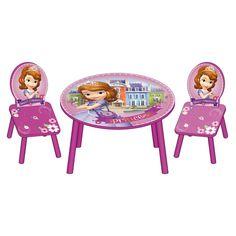 Princesa Sofía. Mesa y 2 sillas infantiles de madera. ARDWD8324, IndalChess.com Tienda de juguetes online y juegos de jardin