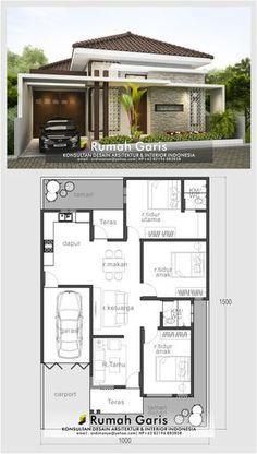 Modern House Floor Plans, Modern Bungalow House, Home Design Floor Plans, Home Building Design, Bungalow House Plans, New House Plans, Duplex House Plans, Modern Small House Design, Modern Minimalist House