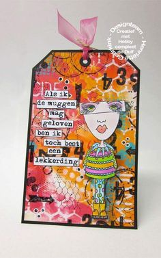 Henriette Geurkink on THE DYAN REAVELEY SOCIETY OF ART JOURNALING Gateway Group. Tag. Dylusion Ink spray, Stamps: Mini moo DYR55495. Http://design-54.blogspot.nl