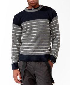Striped Wool-Blend Sweater | 21 MEN - 2030186256- sweater