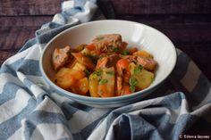 Marokkói zöldséges bárányragu | Tétova ínyenc Thai Red Curry, Ethnic Recipes, Food, Eten, Meals, Diet