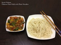Chinese Fish Chilli with Plain Noodles