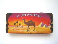 Your place to buy and sell all things handmade Tea Tins, Pencil Boxes, Vintage Tins, Egypt, Camel, Advertising, Blue And White, Cool Stuff, Handmade