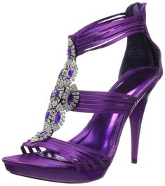 Elegant light purple Calvin Klein strappy prom sandals 2014 ...