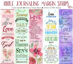 bible journaling margin strips