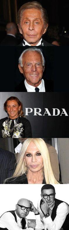 Cinque stilisti italiani famosi nel mondo