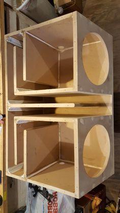 Sub box Rear Speakers Sub Box 4 Channel Fat Drawers Custom Subwoofer Box, Diy Subwoofer, Subwoofer Box Design, Speaker Box Design, Diy Speakers, Rear Speakers, Diy Electronics, Electronics Projects, Sub Box Design