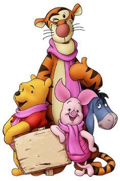 "Winnie the Pooh, Tigger, Eeyore, and Piglet. ""Winnie the Pooh and Friends"" Walt Disney, Disney Love, Disney Art, Disney Pixar, Disney Winnie The Pooh, Winne The Pooh, Winnie The Pooh Quotes, Eeyore, Tigger"