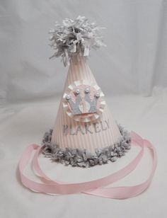 Princess Party Hat with Crown 1st Birthday by CardsandMoorebyTerri, $15.00