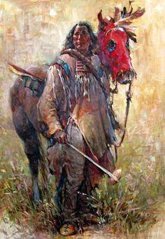 Charles M. Native American Ancestry, Native American Artwork, Native American Artists, American Indian Art, Native American Indians, Native Indian, Native Art, Cowboy Art, Southwest Art