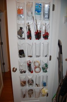 organizing with over the door shoe organizers