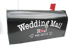 Custom Wedding Card Mailbox Vinyl LETTERING - Personalize Your Own Wedding Card Box by VillageVinyl on Etsy https://www.etsy.com/listing/154876555/custom-wedding-card-mailbox-vinyl
