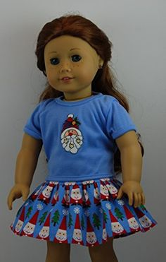 Santa Stars Skirt Set fits 18 inch American Girl Dolls. Doll Clothes Shop http://www.amazon.com/dp/B00N44WYB2/ref=cm_sw_r_pi_dp_MZgjub1DBHADC