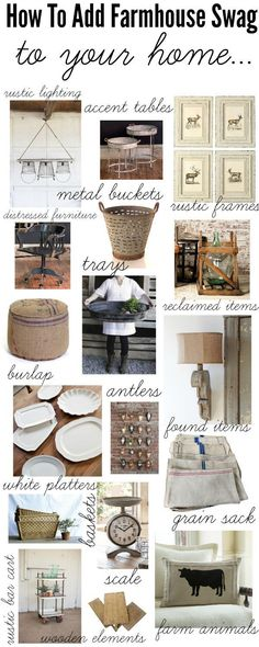 To Add Farmhouse Style To your Home How to add farmhouse style to your home - A one stop shop with links to the items & they are all on sale!How to add farmhouse style to your home - A one stop shop with links to the items & they are all on sale! Farmhouse Chic, Farmhouse Design, Industrial Farmhouse, Farmhouse Ideas, Vintage Farmhouse, Urban Farmhouse, French Farmhouse, Kitchen Decorating, Deco Champetre