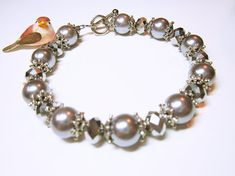 JEWELRY BRACELET Silver Pearl Bracelet Faceted Silver Glass Beads Silver Spacer Beads Pearl Bracelet Wedding Wear Gift Idea For Her   ~FREE FREE FREE~ One Pair Of Crystal Stud Earrings When You Purchase This Item Your Choice Of Colours   Wonderful And Thoughtful Gift Idea For: