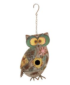 Love this Feathered Friend Owl Birdhouse on #zulily! #zulilyfinds