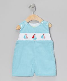 Take a look at this Turquoise Gingham Sailboat John Johns - Infant & Toddler on zulily today!