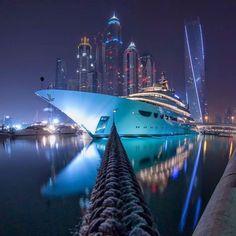 Unbelievable Picture of Ibrahim Albeshari Cruise Yacht in Dubai