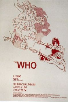 The Who Concert Poster - Music Hall, Boston, MA 1968, sadly the music hall is long gone