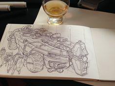 Drinkz and wartz. on Behance - by John Frye