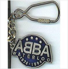 ABBA - Keyring Waterloo logo 1974 - 1994 Metal Keyring. NEW Rare