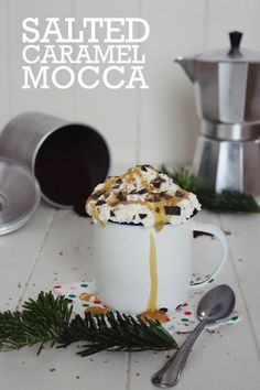 Rezept für einen Salted Caramel Mocca  www.machenstattreden.blogspot.de