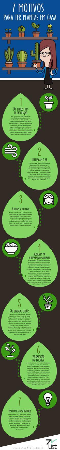 Humm! O assunto hoje aqui no blog está muito ligado a natureza, que por sinal nós amamos. Veja 7 motivos para ter plantas em casa. #Sevenlist #Plants #Plantas #Nature #Natureza #Flowers #Home #Flores #Casa