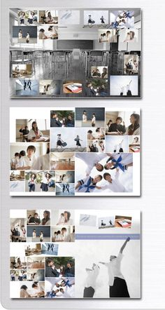 卒業アルバム デザインレイアウトサンプル studioes Wedding Album Layout, Wedding Collage, Wedding Album Design, Gallery Wall Layout, Yearbook Design, Grid Layouts, School Photography, Photo Layouts, Photo Projects