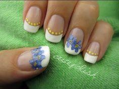 DIY Dried Flower Nails!