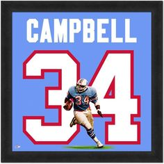 Houston Oilers Earl Campbell Framed Jersey Photo Football Jerseys bb8114fa5