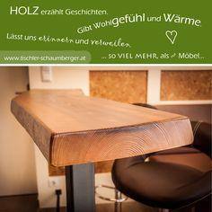 Holz erzählt Geschichten. Gibt Wohlgefühl und Wärme. Lässt uns erinnern und verweilen. Kitchen, Home, Cooking, Kitchens, Ad Home, Homes, Cuisine, Haus, Cucina