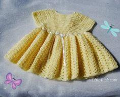 Make It Crochet | Your Daily Dose of Crochet Beauty | Free Crochet Pattern: Easy Baby Dress