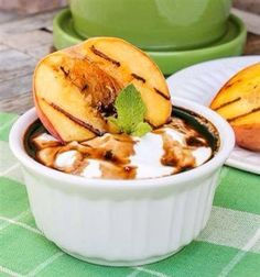 Grilled peach for breakfast!
