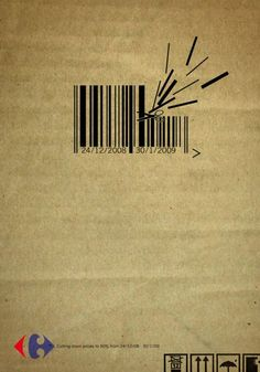 Carrefour barcode | Advertising Agency: Strategies, Cairo, Egypt 2008 http://www.strategies.com.eg/