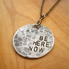 """""""Be Here Now"""" Sterling Silver Necklace"""